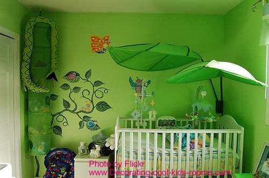 Зеленая комната для малыша