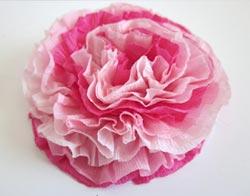 Цветок из бумаги разных цветов