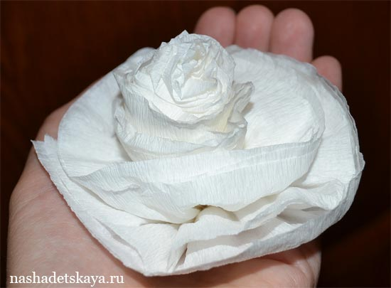 Цветок из креповой бумаги