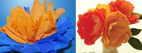 Цветы из гофрированной бумаги: Читать далее