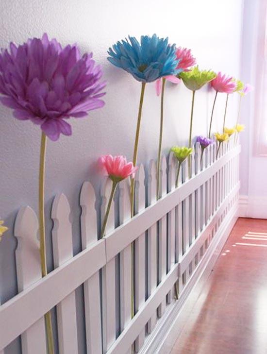 Цветы из бумаги для комнаты малышки в стиле прованс