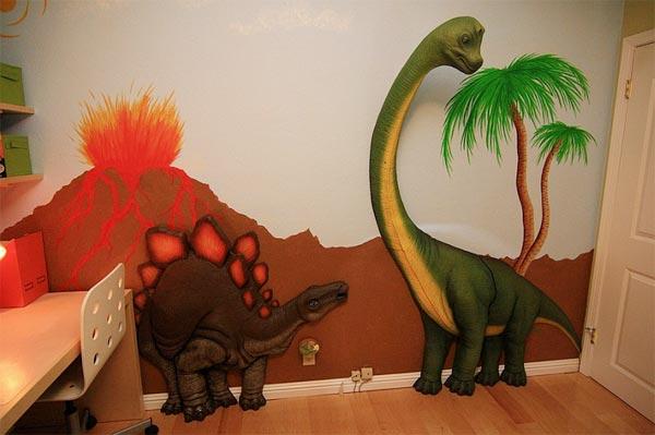 Еще один вариант 3D динозавров