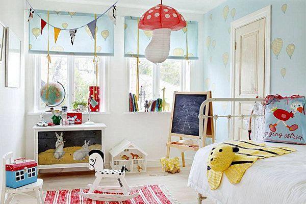 Яркая комната в скандинавском стиле