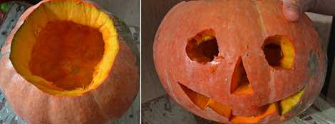 Как вырезать рожицу из тыквы на Хэллоуин: Читать далее