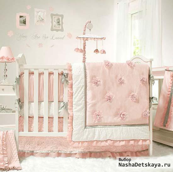 Комната в балетном стиле для новорожденной девочки