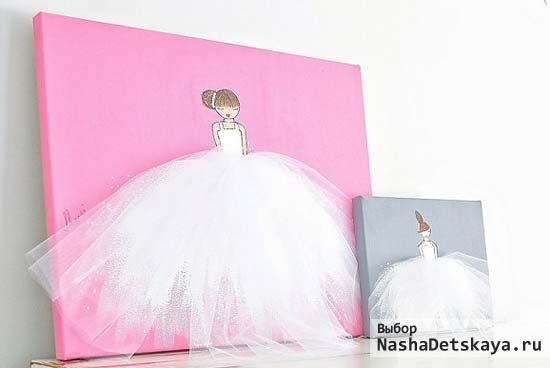 Самодельные постеры с балеринами в пышных платьях