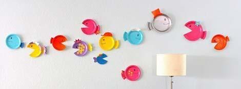 Украшаем стену в комнате малыша своими руками: рыбки из бумажных тарелок: Читать далее
